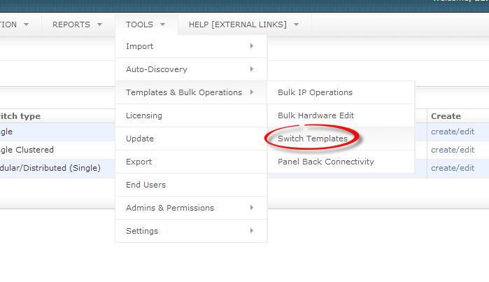 Create network documentation template.