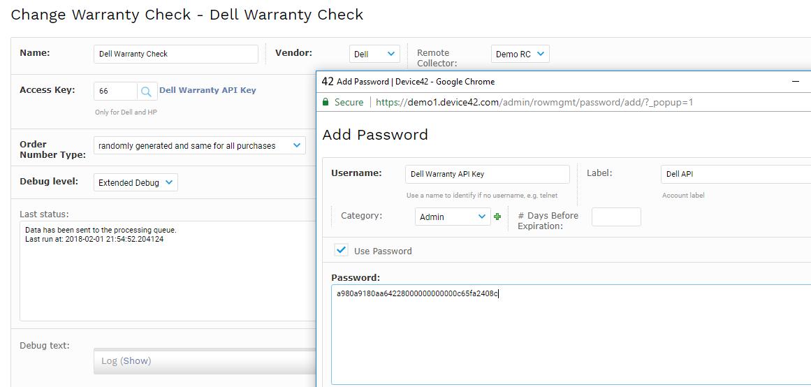 Warranty Autodiscovery - Device42 Documentation   Device42 Documentation