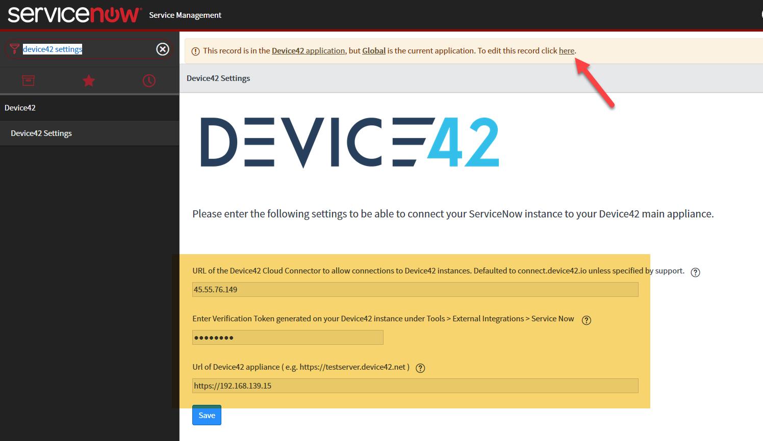 ServiceNow Integration - Device42 Documentation | Device42