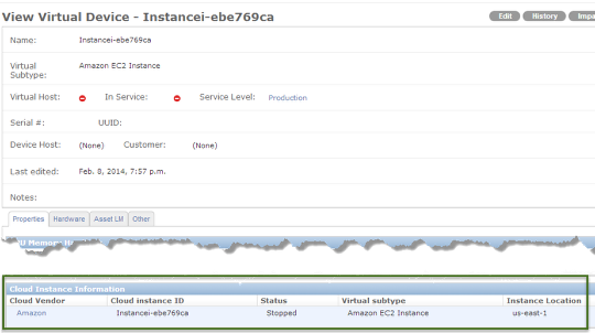 Cloud Instance Information