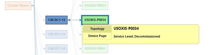 Hover over server for details demonstration