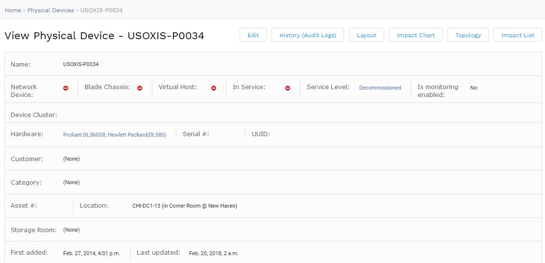 USOXISP0034 Device Details