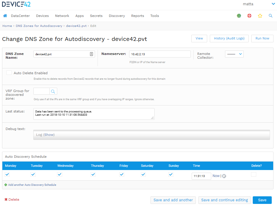 Add DNS zone discovery