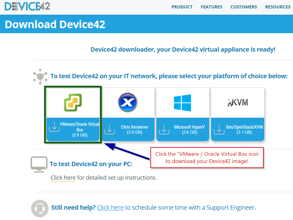 Download Device42 Virtual Box OVF