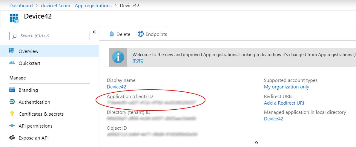 Azure Client ID